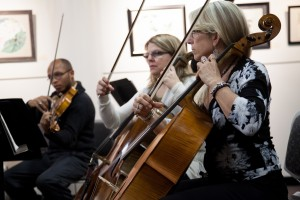 Group Playing Cellos
