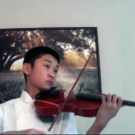 Boy in Polo Playing Violin