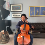Playing Cello During Recital